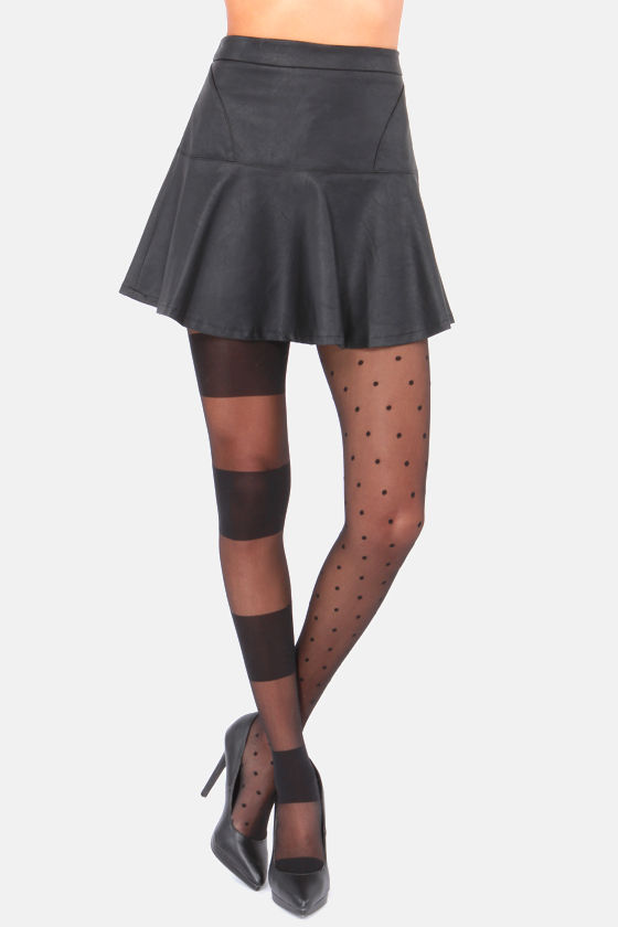 Stance Punkette Striped and Polka Dot Black Tights at Lulus.com!