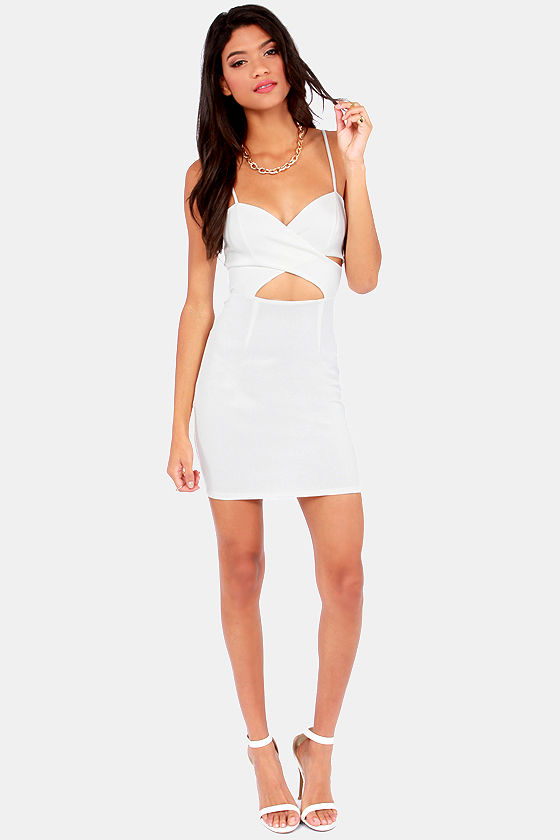 X and the City Ivory Bodycon Dress at Lulus.com!