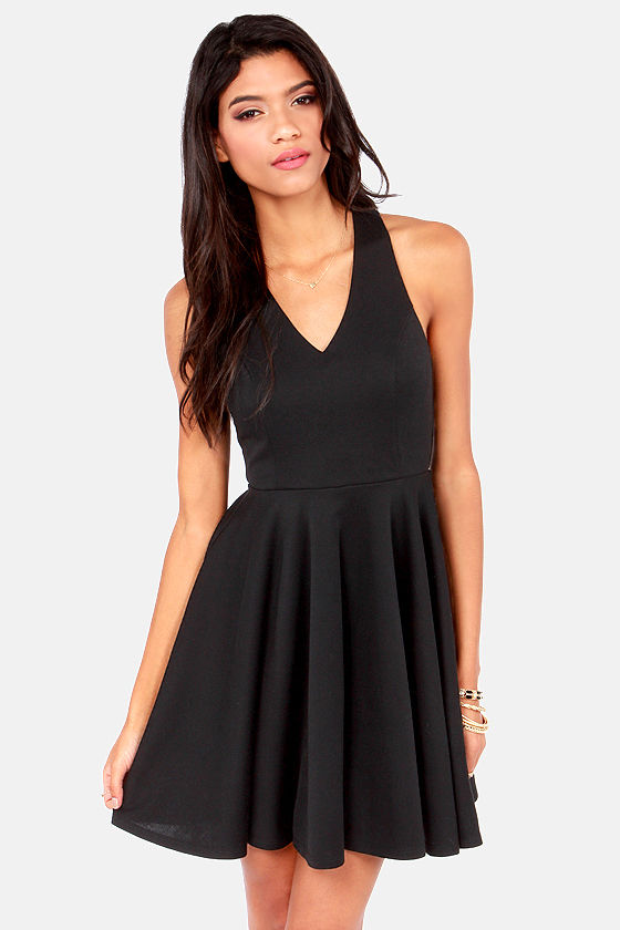 Crisscross The Line Black Dress at Lulus.com!