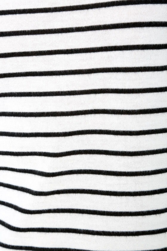Law Bender Black and Ivory Striped Dress 6