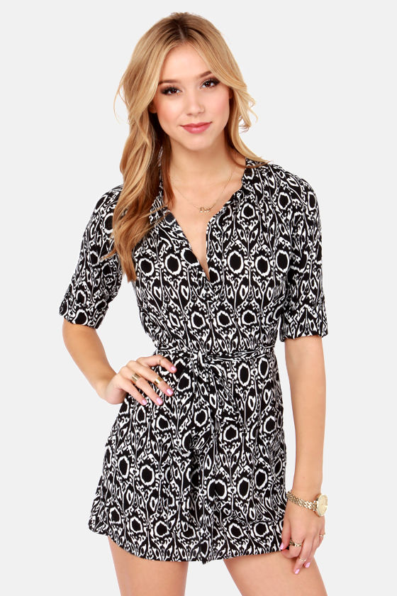 Lucy Love Raulson Black and White Print Dress at Lulus.com!