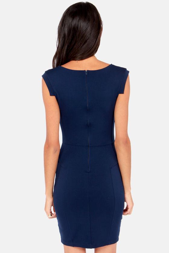 Romantic Melodies Navy Blue Dress at Lulus.com!