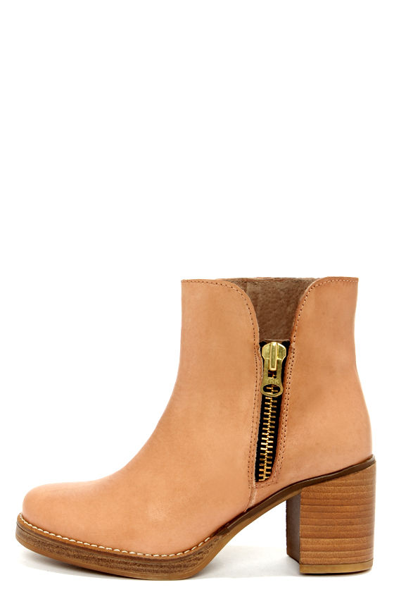 MTNG Becca 90223 Vaquet Natural High Heel Ankle Boots at Lulus.com!