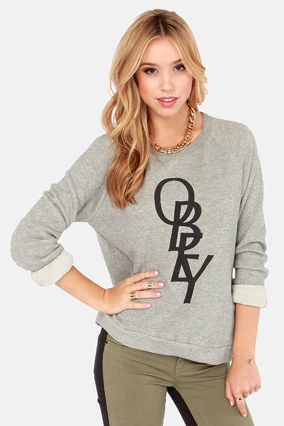 Obey Azalea Heather Grey Sweatshirt at Lulus.com!