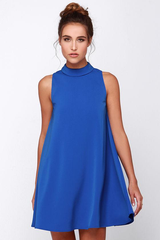 1f50ed88c626e Cute Blue Dress - Sleeveless Dress - Swing Dress - $77.00