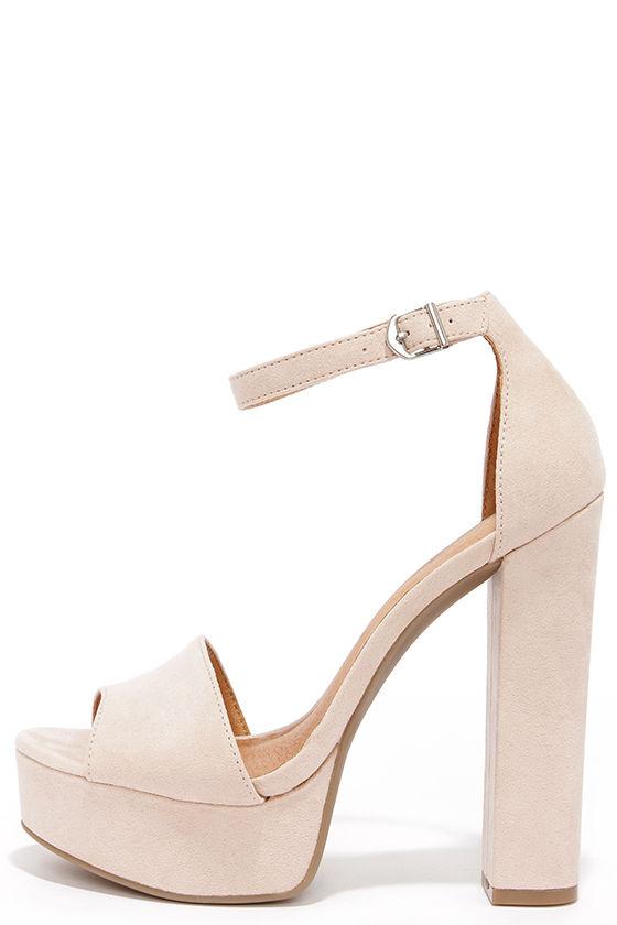 89a5da540095 Cute Soft Pink Heels - Platform heels - Platform Pumps