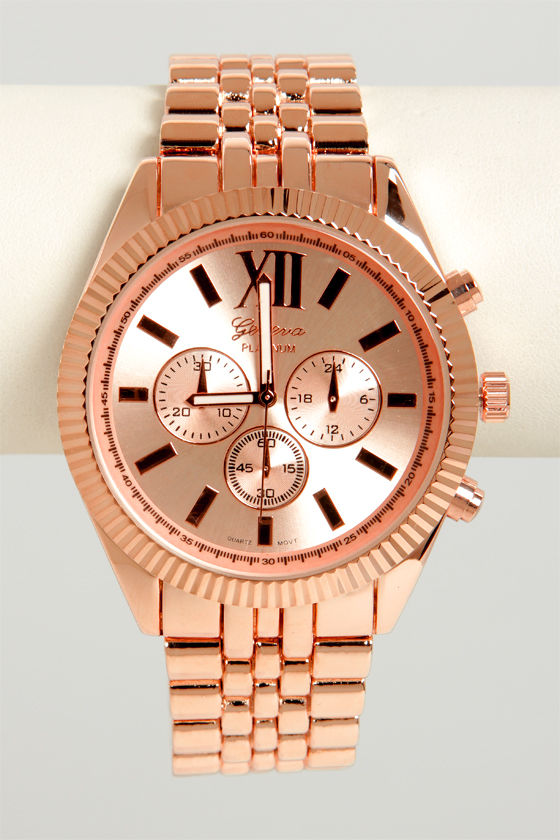 Link Ahead Rose Gold Watch at Lulus.com!
