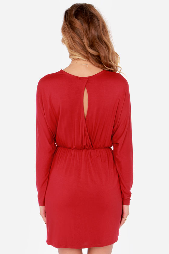 LULUS Exclusive Ruche Decision Wine Red Dress at Lulus.com!