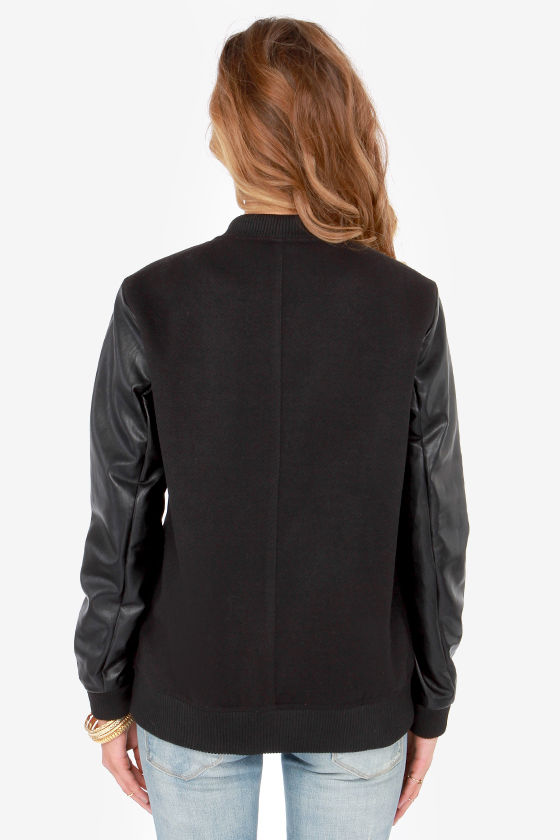 Belle of the Fastball Black Baseball Jacket at Lulus.com!