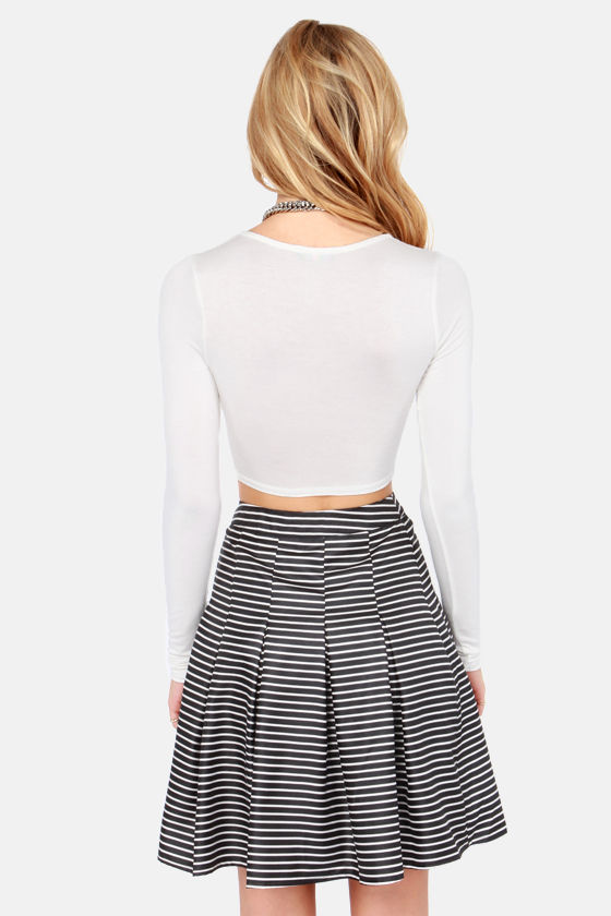 On Crop of the World Ivory Crop Top at Lulus.com!