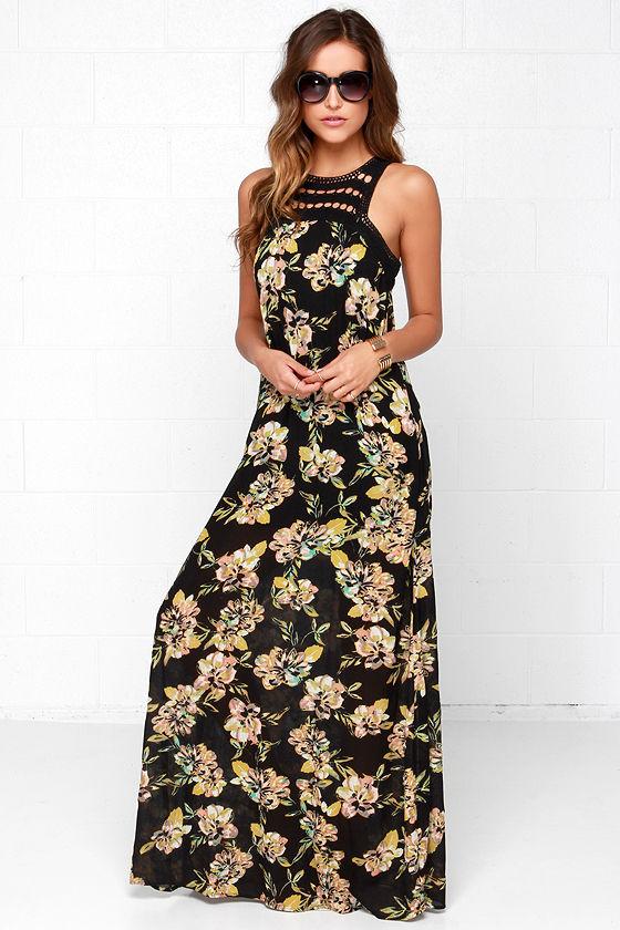 O&-39-Neill Moore Dress - Floral Print Dress - Maxi Dress - Lace Dress ...