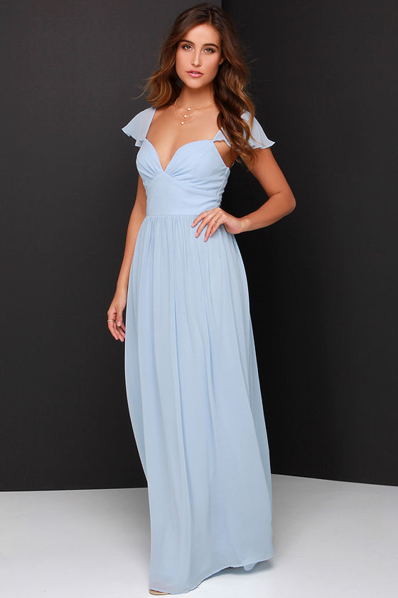Lovely Light Blue Dress - Bridesmaid Dress - Blue Maxi Dress - $74.00