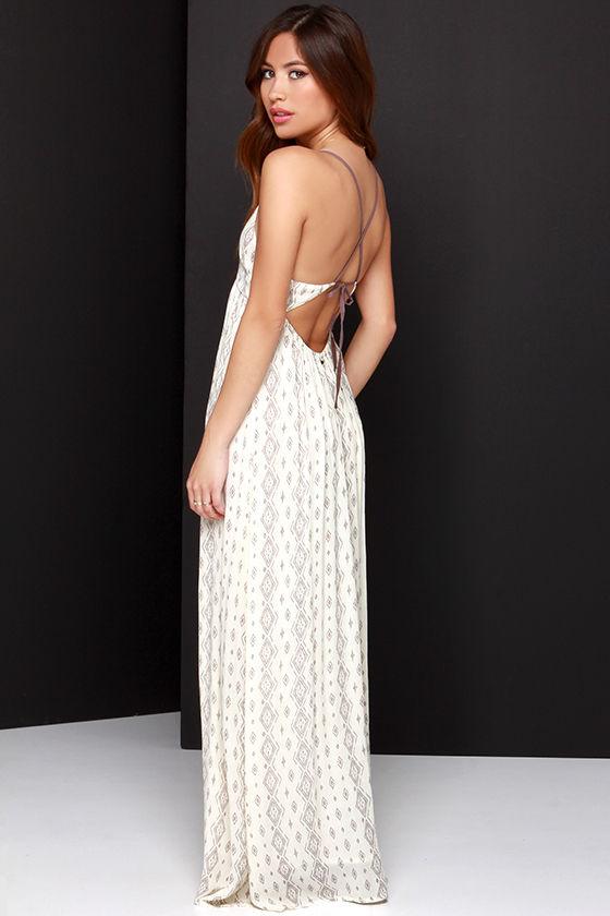 O'Neill Dean Dress - Cream Dress - Print Maxi - $59.50