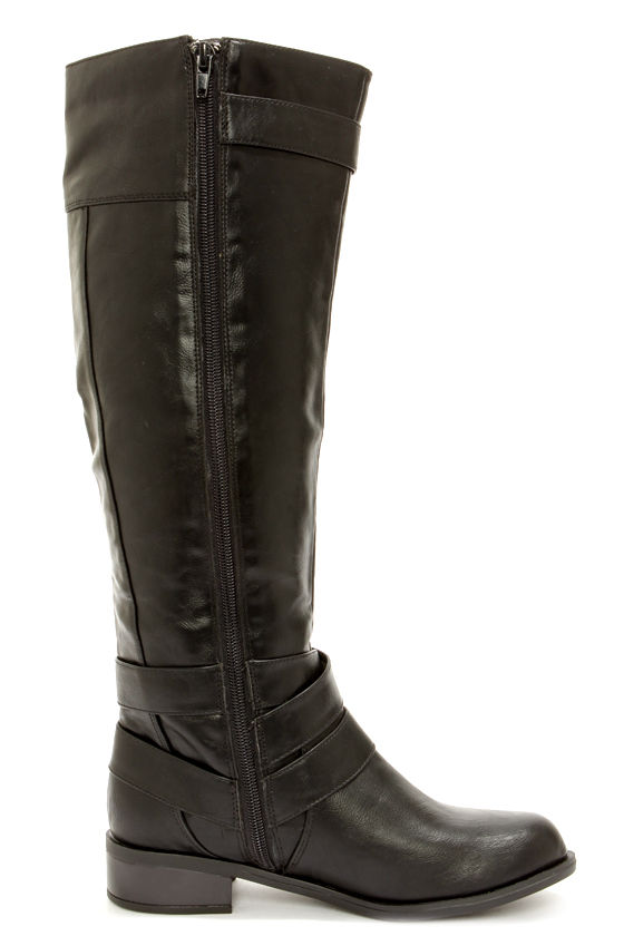 black boots knee high boots boots 43 00