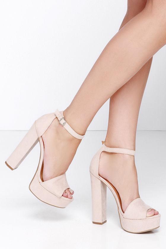8d5b6156f061 Cute Soft Pink Heels - Platform heels - Platform Pumps