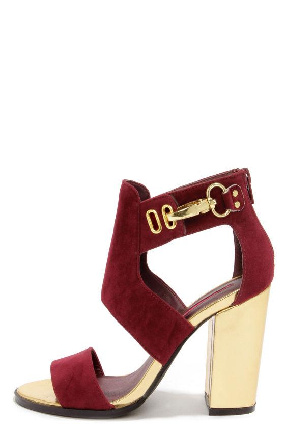 Cute Burgundy Shoes Cutout Booties Shootie 45 00