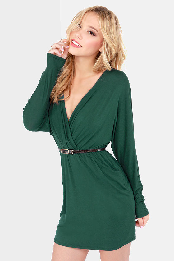 LULUS Exclusive Ruche Decision Hunter Green Dress at Lulus.com!