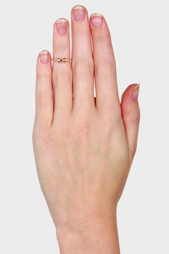 Diamonds are Forever Gold Infinity Knuckle Ring at Lulus.com!