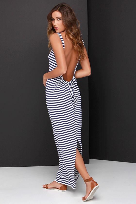 Striped maxi dresses on sale