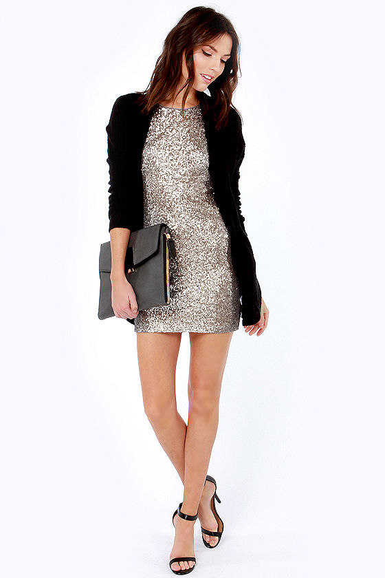 Life of the Party Silver Sequin Dress at Lulus.com!