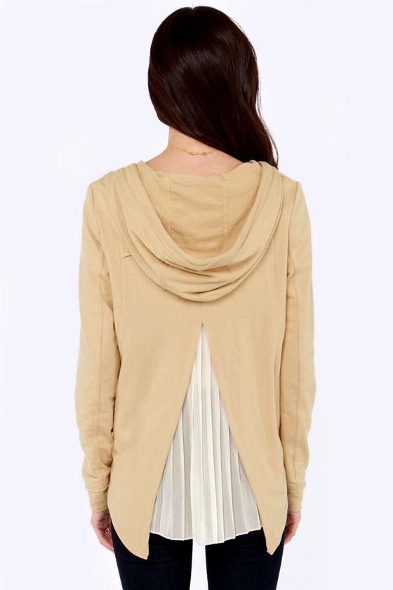 Others Follow Joplin Beige Hooded Sweater at Lulus.com!