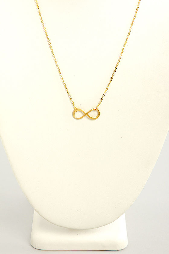 Infinitely Better Gold Infinity Necklace at Lulus.com!