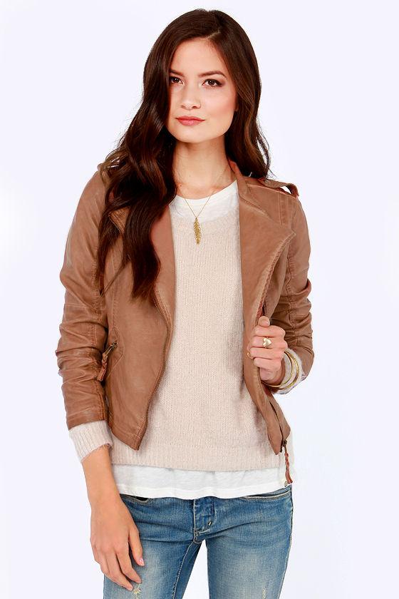 Black Swan Heart Jacket - Brown Jacket - Vegan Leather Jacket - $99.00