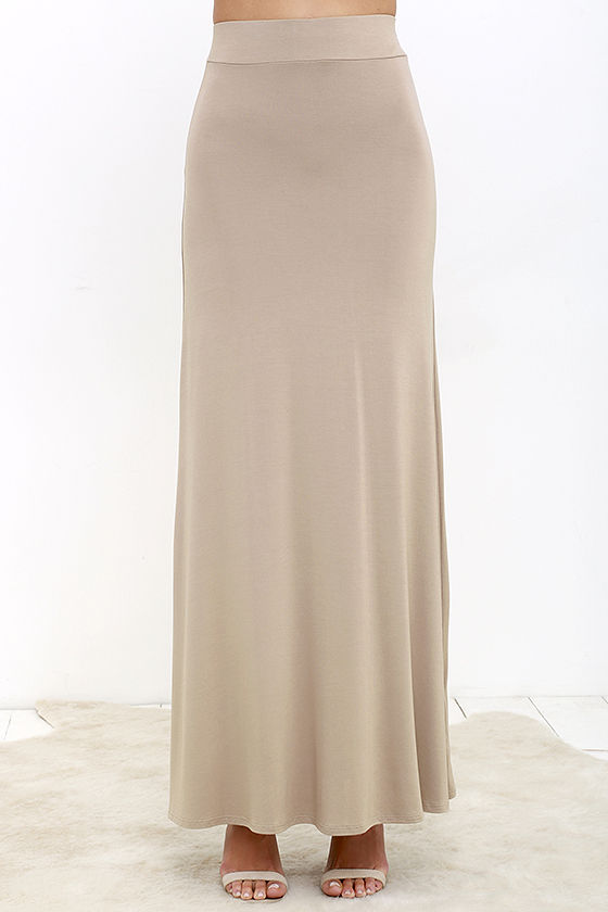 Brown Maxi Skirt - Skirts