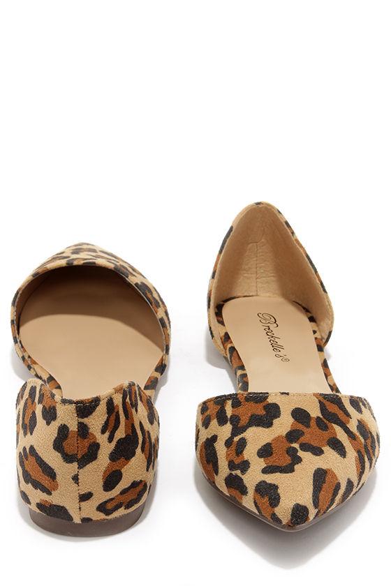 Cute Leopard Shoes - D'Orsay Flats