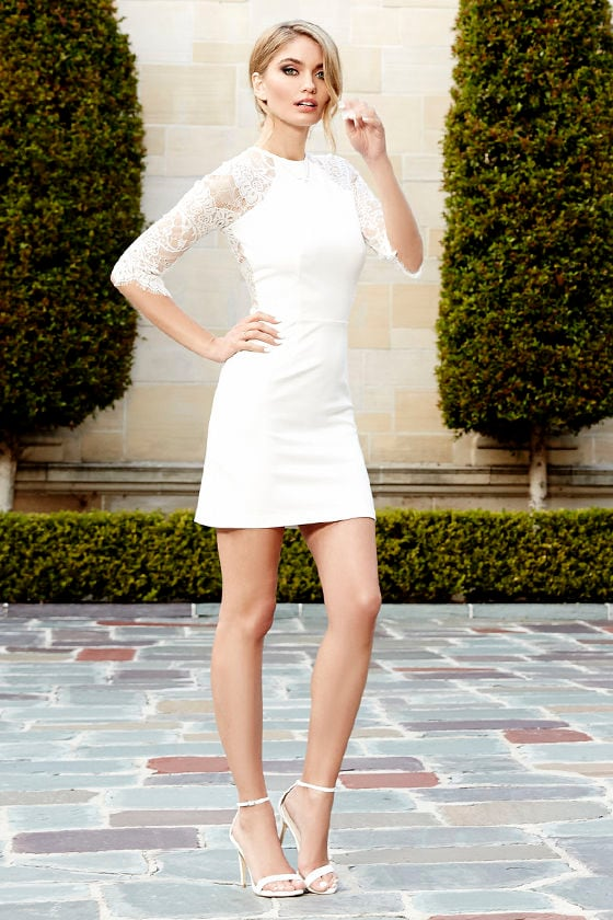 BB Dakota Princeton Dress - Ivory Dress - Lace Dress - $91.00