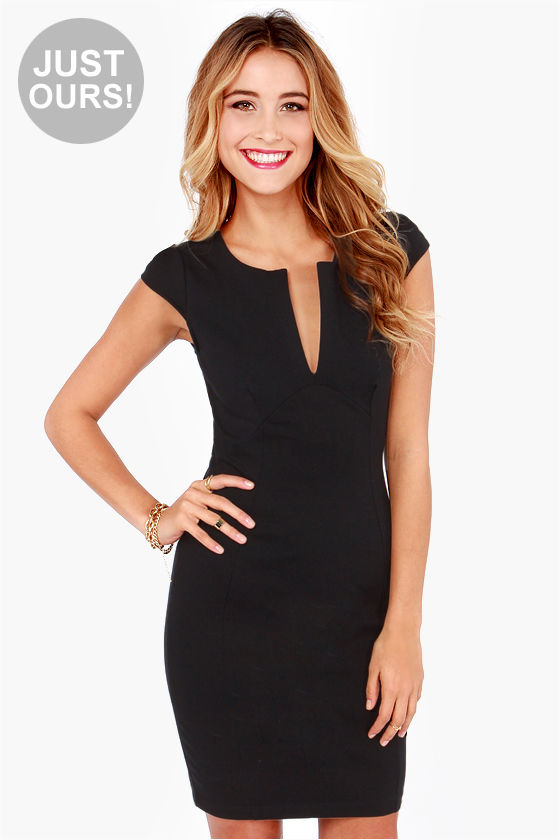 Cute Black Dress Lbd Midi Dress Little Black Dress