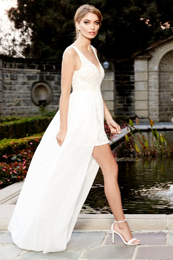 0d760bbefb3 Make Way for Wonderful Off White Lace Maxi Dress