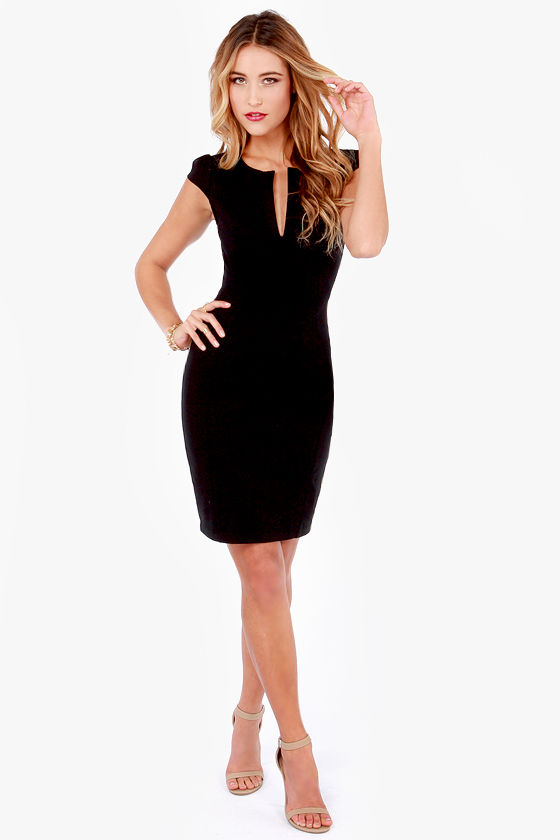 Cute Black Dress - LBD - Midi Dress - Little Black Dress - $42.00
