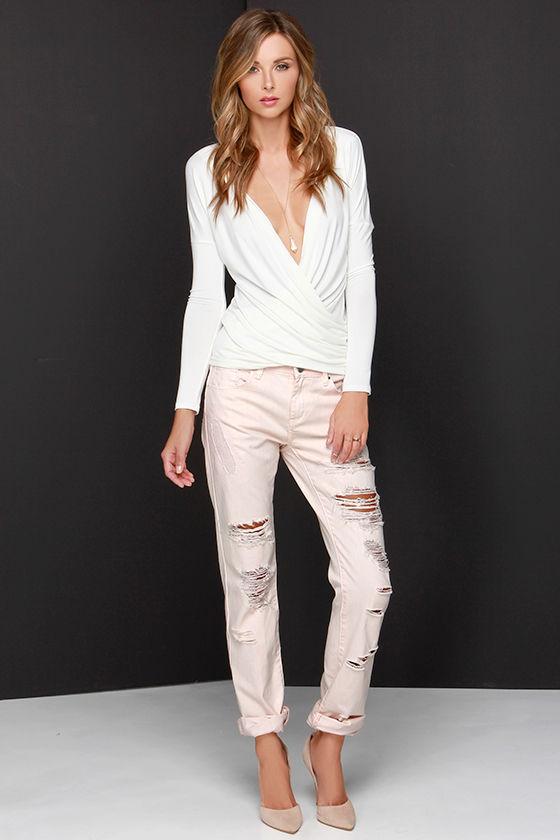 Blank NYC Ditz Jeans - Pink Jeans - Boyfriend Jeans - $83.00