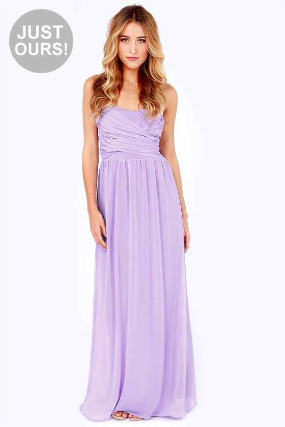 Long lavender maxi dress