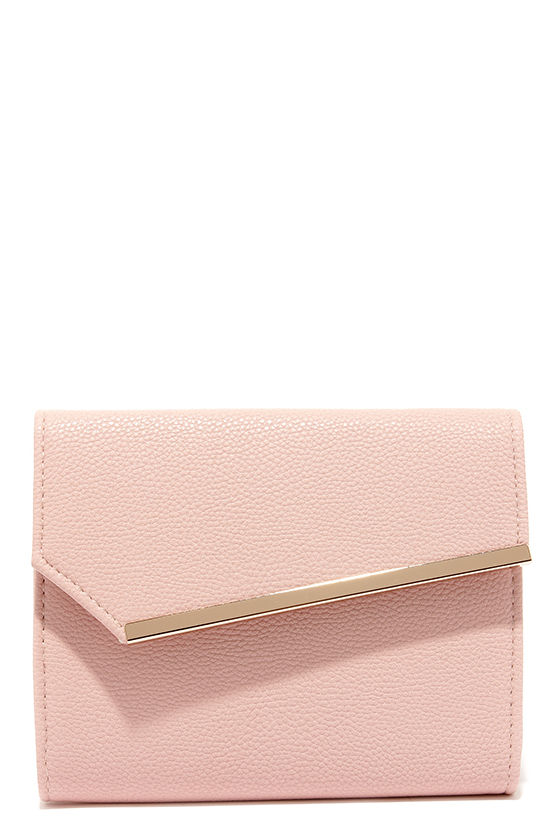 Chic Blush Pink Cluch - Vegan Leather Purse - Pink Purse - $32.00