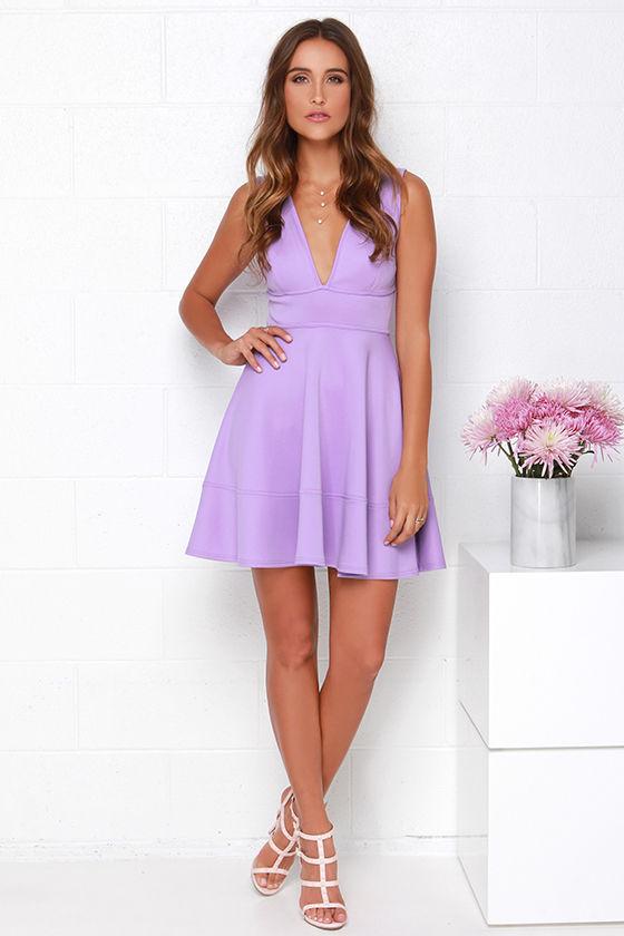 Cute Lavender Dress - Skater Dress - Sleeveless Dress - $40.00