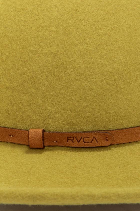 RVCA Jemma Chartreuse Wool Hat at Lulus.com!