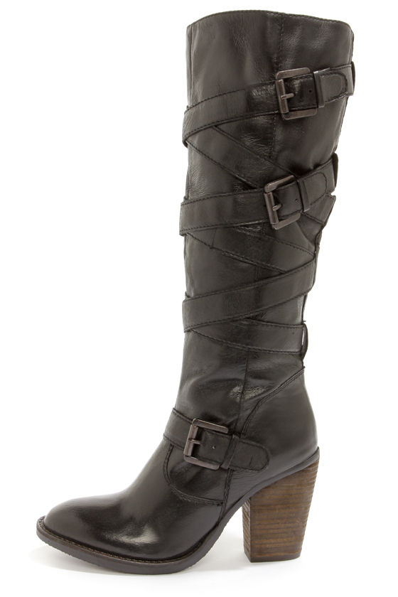 steve madden renegaid boots black boots knee high