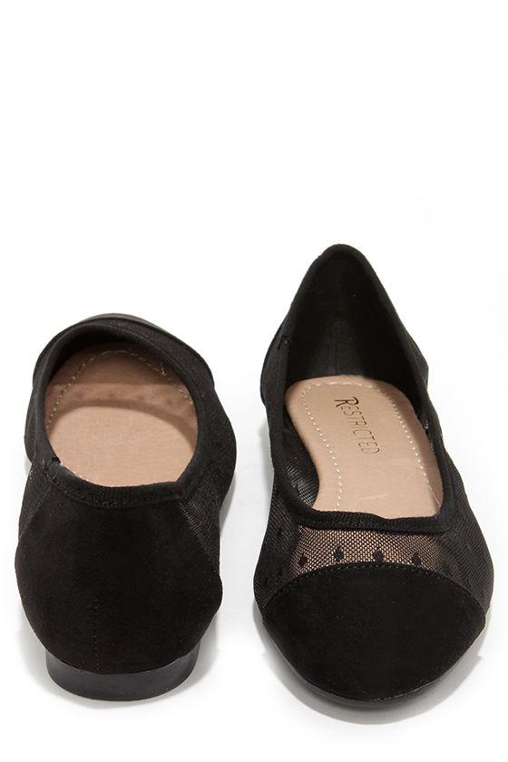 f289548b3 Cute Black Flats - Lace Flats - Ballet Flats - $49.00