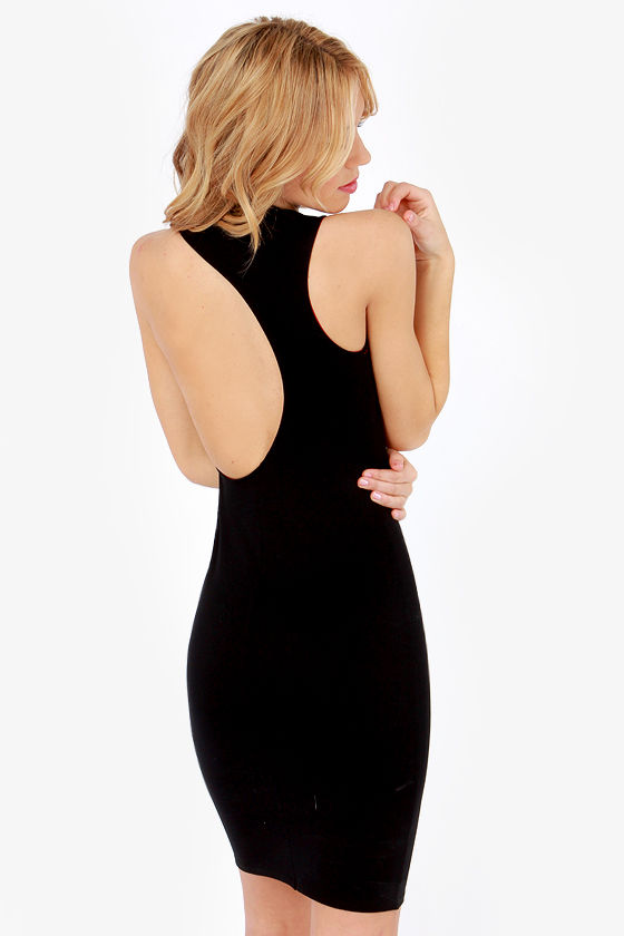 Work of Art Black Dress at Lulus.com!