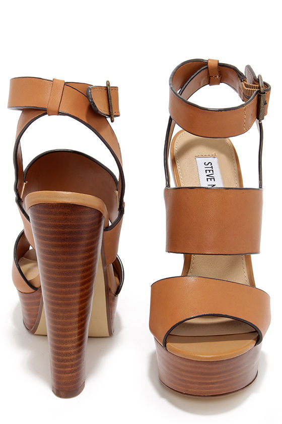 Sexy Tan Heels - Platform Heels - Platform Sandals - $109.00