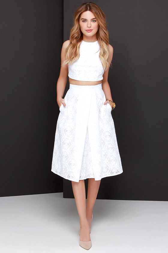 Chic Ivory Dress - Two-Piece Dress - Midi Dress -  78.00 d95d0498e