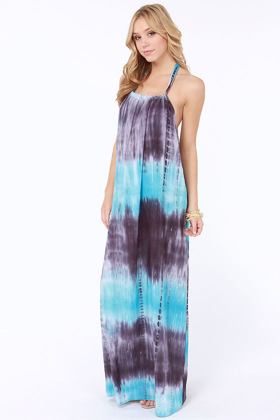 Beach Therapy Blue Tie-Dye Maxi Dress at Lulus.com!