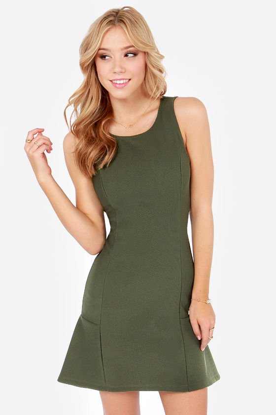 Good Game Olive Green Dress at Lulus.com!