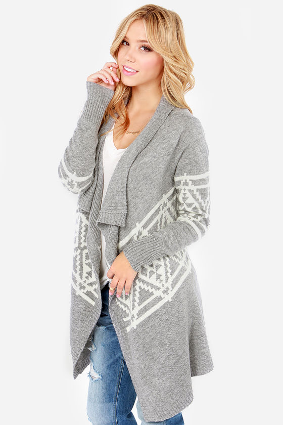 Southwest Side Story Cream and Grey Cardigan Sweater at Lulus.com!
