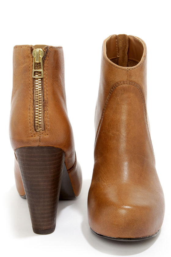 6e5d7a111 Steve Madden Naples - Ankle Boots - Leather Boots - Tan Boots - $129.00