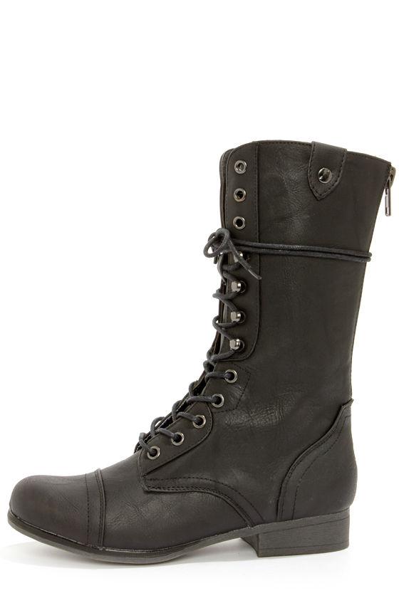 Madden Girl Gamblez - Black Boots
