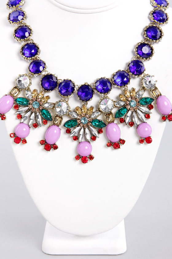 Berried Treasure Blue Rhinestone Necklace at Lulus.com!