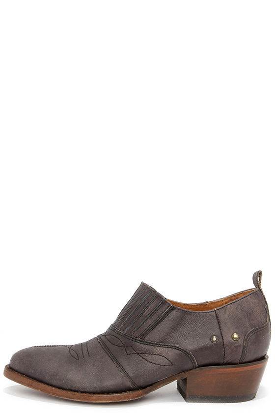 Cute Leather Booties - Western Ankle Boots - $167.00